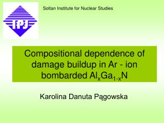 Compositional dependence of damage buildup in Ar - ion bombarded Al x Ga 1-x N