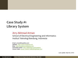 Case Study #1 Library System