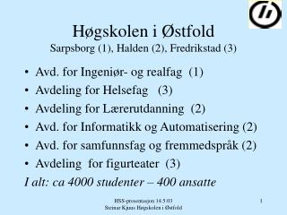 H gskolen i  stfold Sarpsborg 1, Halden 2, Fredrikstad 3