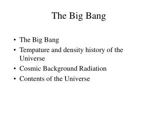 The Big Bang