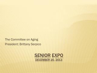Senior  Expo  december  20, 2013