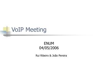 VoIP Meeting