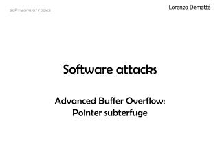 Software attacks