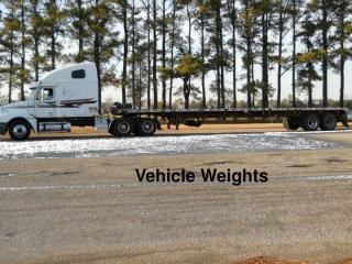 Vehicle Weights