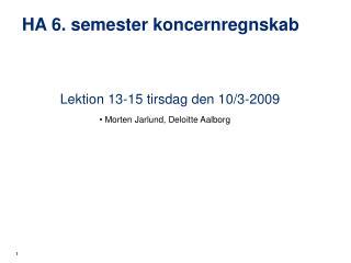 HA 6. semester koncernregnskab