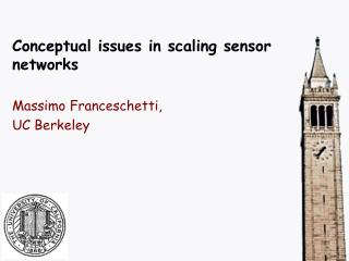 Conceptual issues in scaling sensor networks