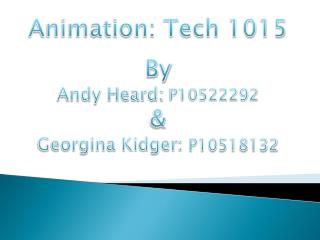 Animation: Tech 1015