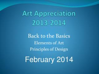 Art Appreciation 2013-2014