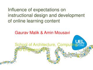 Influence of expectations on instructional design and development of online learning content