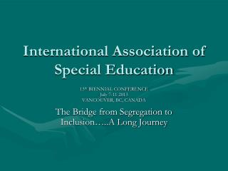 International Association of Special Education