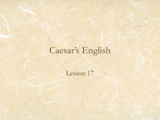 Caesar's English