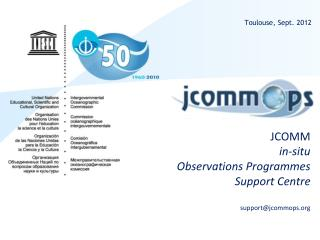 JCOMM in-situ  Observations Programmes Support Centre support@jcommops