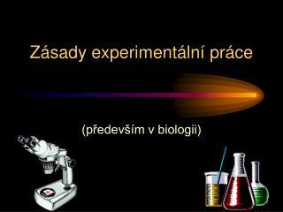 Zá s ady experimentální práce