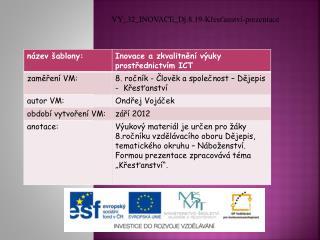 VY_32_INOVACE_Dj.8.19-Křesťanství-prezentace