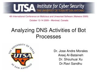 Analyzing DNS Activities of Bot Processes
