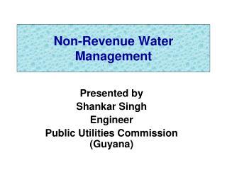 Non-Revenue Water Management