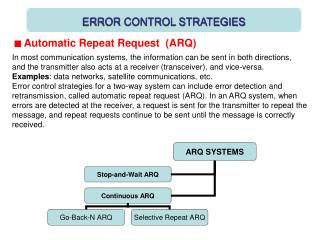 ERROR CONTROL STRATEGIES