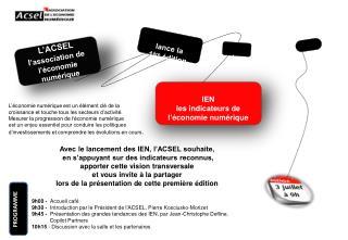 L'ACSEL l 'association de  l'économie  numérique
