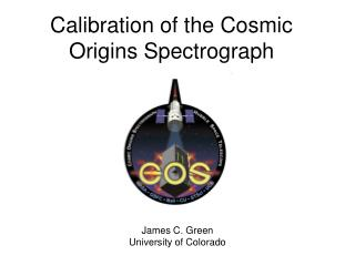 Calibration of the Cosmic Origins Spectrograph