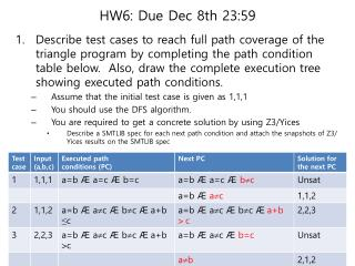 HW6: Due Dec 8th 23:59