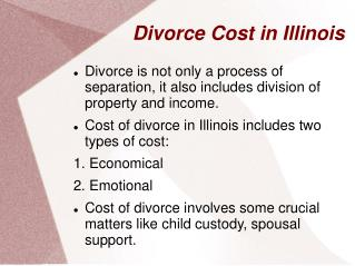 Illinois Divorce Cost
