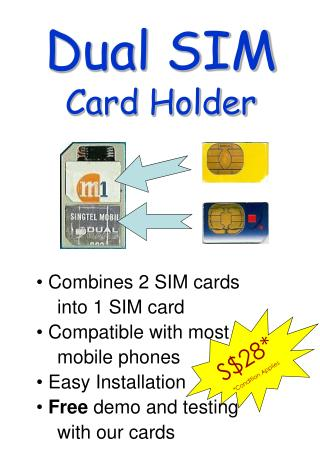 Dual SIM Card Holder