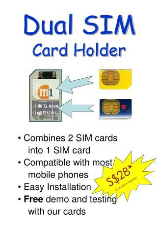 Dual SIM Card Holder
