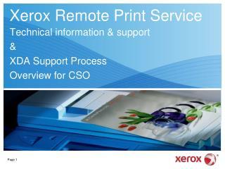 Xerox Remote Print Service