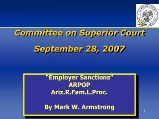 Committee on Superior Court September 28, 2007