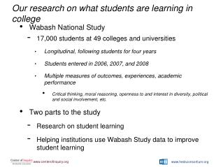Our research on what students are learning in college