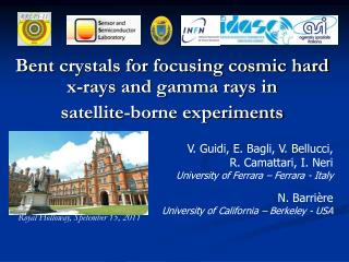 Bent  crystals for focusing cosmic hard x-rays and gamma rays  in satellite -borne experiments