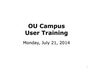 OU Campus  User Training