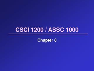 CSCI 1200 / ASSC 1000