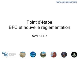 Point d  tape BFC et nouvelle r glementation