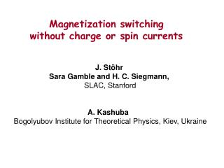 Magnetization switching  without charge or spin currents