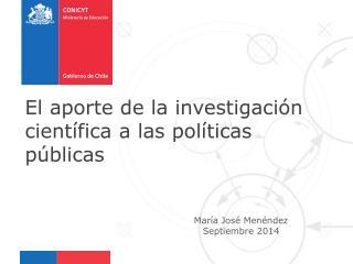 María José Menéndez Septiembre 2014