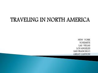 TRAVELING  IN NORTH AMERICA