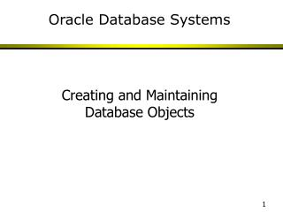 Oracle Database Systems