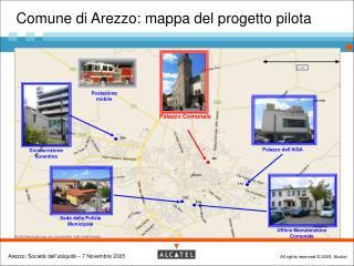Comune di Arezzo: mappa del progetto pilota