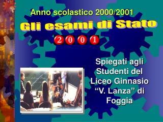 Anno scolastico 2000/2001