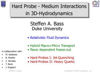 Hard Probe - Medium Interactions in 3D-Hydrodynamics