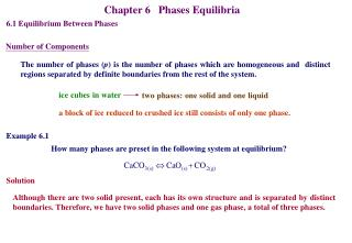 Chapter 6   Phases Equilibria