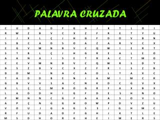 PALAVRA CRUZADA