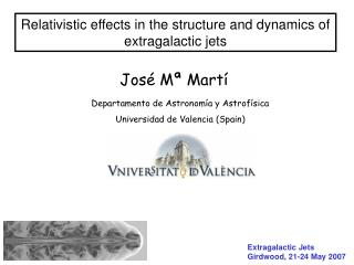 Relativistic effects in the structure and dynamics of extragalactic jets
