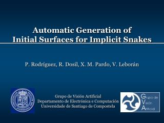 Automatic Generation of Initial Surfaces for Implicit Snakes