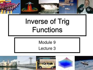 Inverse of Trig Functions