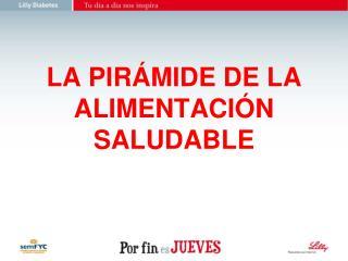 LA PIRÁMIDE DE LA ALIMENTACIÓN SALUDABLE