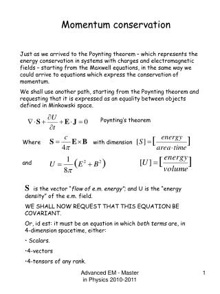 Poynting's theorem