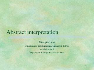Abstract interpretation