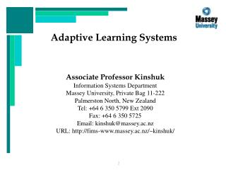 Adaptive Learning Systems